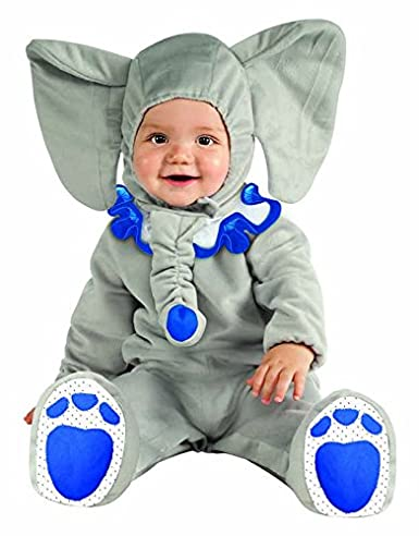 Rubie's Costume Cuddly Jungle Eli-Fun Blue Elephant Romper Costume