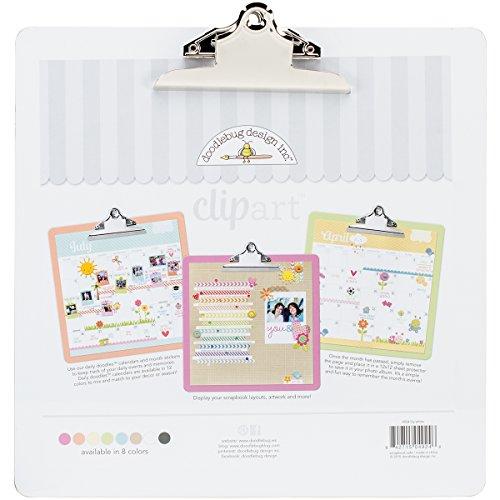 Doodlebug Clipart Monochromatic Clipboard 13.5x13.5-Lily White (Scrap Clipart)
