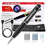 Hidden Spy Mini Camera Pen, Portable Small Cam 1080p HD Camcorder Surveillance DVR Camera Video and Photo Quality Clear with 10 Refills