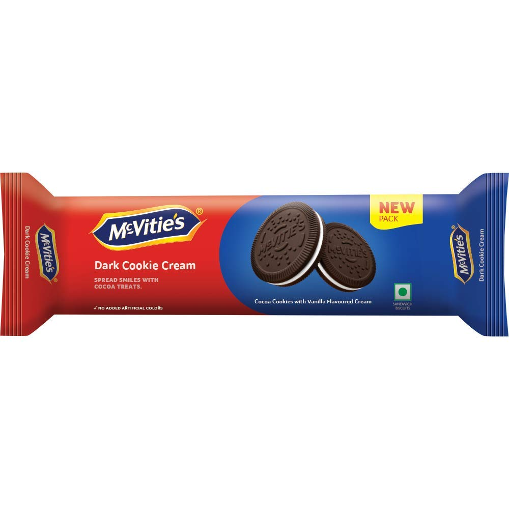Mcvities Dark Cookies Cream, 120gm, (Pack of 10)