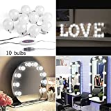 Hollywood Style Makeup Mirror Light Kit Vanity Costmetic LED Lights with 10 Dimmable Bulbs,Vanity Mirror Set for Bedroom/Bathroom (Mirror Not Included)