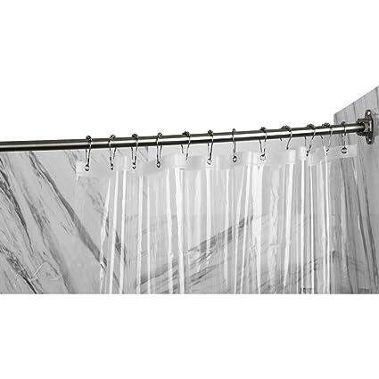 TENOVEL 3 Piece Bathroom Shower Sets 42 72 Tension Curved
