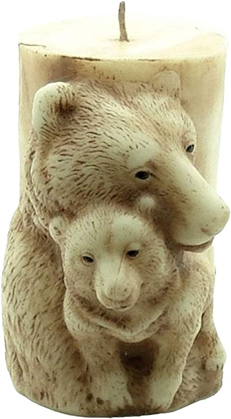 GreatMold 3D DIY Animal Silicone Candle Molds Cylinder Soap Mold Bear Horse Elephant Handmade Wax Candle Resin Moulds