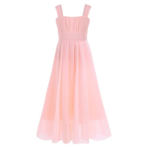 YiZYiF Flower Girl Dress Junior Chiffon A-Line Butterfly Sleeves Wedding Party Dance Prom Dresses