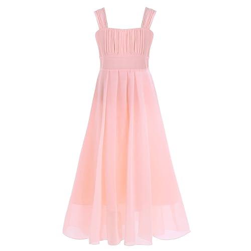 YiZYiF Flower Girl Dress Junior Chiffon A-Line Butterfly Sleeves Wedding Party Dance Prom Dresses