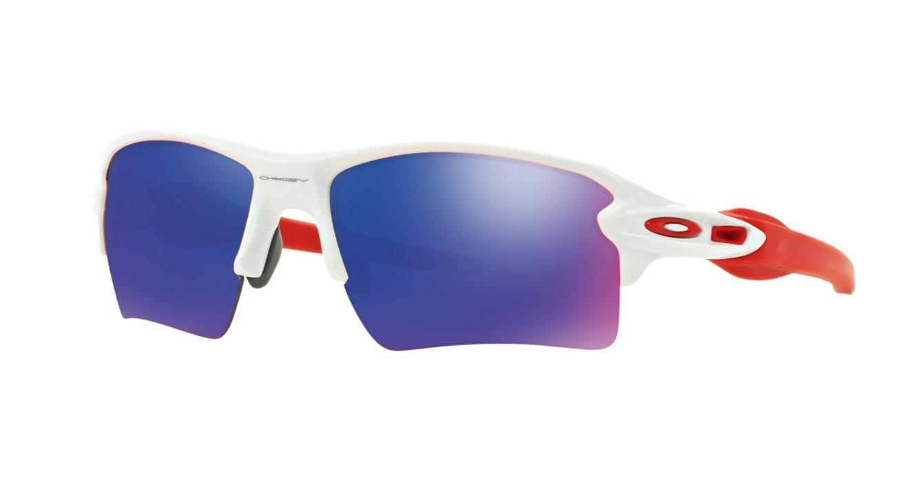 Oakley Men's Flak 2.0 XL OO9188-21 Non-Polarized Iridium Rectangular Sunglasses, Polished White, 59 mm by Oakley