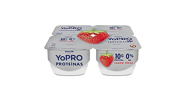 Danone Yogur YoPRO con Sabor Fresa - 4 Unidades: Amazon.es ...