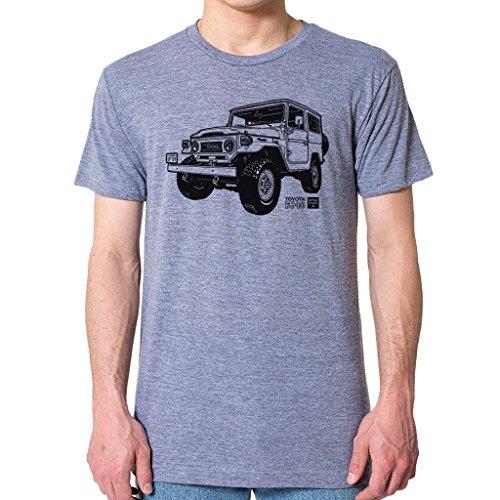 GarageProject101 Toyota FJ40 Land Cruiser T-Shirt XL Athletic Gray