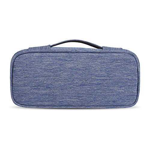 BUBM Carrying Bag for AC Adapter, Travel Organizer for Laptop Charger, Pouch Cover Case for Power Cord and Other Accessories, Blue by BUBM (Image #1)