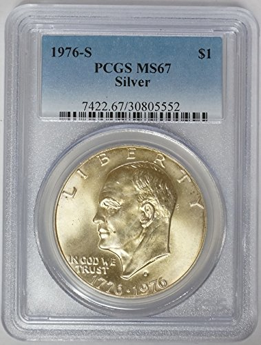 1976 S Eisenhower Ike Silver Dollar $1 MS-67 PCGS