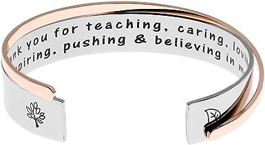Gift for teacher pendant charms Teacher Teaching assistant Stainless steel