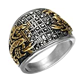 PAMTIER Stainless Steel Gothic Biker Scorpion Ring Hip Hop Style for Men Women Silver Gold Size 11