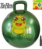 Space Hopper Ball with Air Pump: 20in/50cm Diameter for Ages 7-9, Hop Ball, Kangaroo Bouncer, Hoppity Hop, Jumping Ball, Sit & Bounce