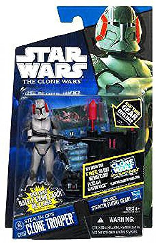 Wars Figures Wars Star Clone (Star Wars 2011 Clone Wars Animated Action Figure CW No. 57 Stealth Ops Clone)