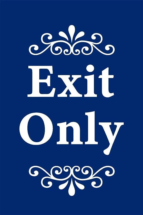 Amazon.com: Exit Only - Cartel con marco en A (24.0 in de ...