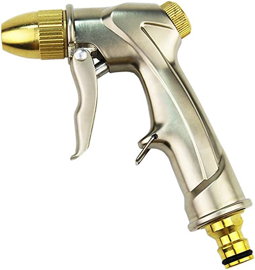 Pistola Manguera de Jardín Manguera de Alta presión Boquilla del hogar Ducha del Coche Pistola de Agua Recubrimiento de la Cabeza Manguera de Lavado de Autos: Amazon.es: Hogar