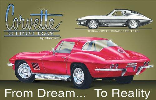Advertisement Metal (Chevy Corvette Stingray Tin Sign 16 x 11in)