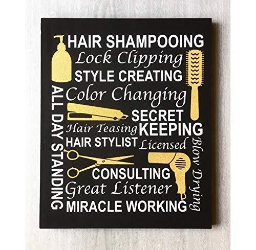 WoodenSign Hairdresser Decor Hairdresser Scissors Hair Salon Decor Hairdresser Sign Hairdresser Gift Hair Stylist Decor Hair Salon Art cb681619