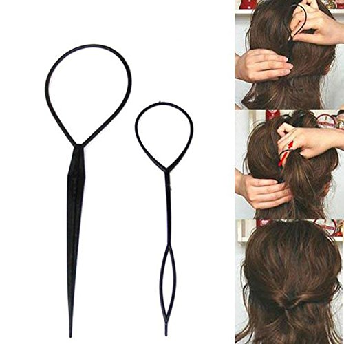 Topsy Tail Hair Styling Tool hair Accessories Ponytail Maker Hair Braid Tool For Girl Women TUPOR