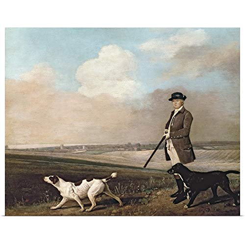 GREATBIGCANVAS Poster Print Entitled Sir John Nelthorpe, 6th Baronet Out Shooting with his Dogs by George (1724-1806) Stubbs 20