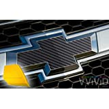 VViViD XPO Black Carbon Fiber Chevy Bowtie Logo Wrap Kit (6 rolls (11.8
