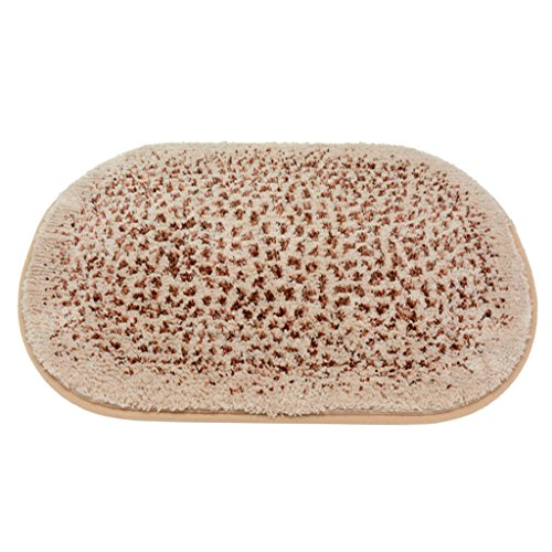- C & S Oval Mat Bath Water Absorbent Pad Bedroom Antiskid Cushion Softness of Combed Cotton (Color : Coffee Color, Size : 5080cm)