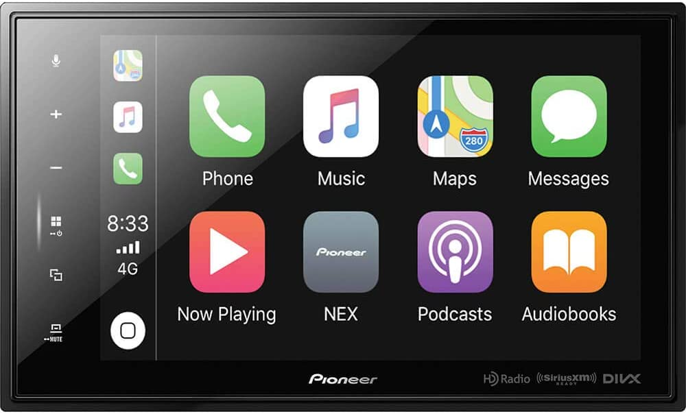 Pioneer DMH-C5500NEX Modular 8'' Capacitive Multimedia Receiver with Apple CarPlay, Android Auto, Built-in Bluetooth, SiriusXM Ready, iDataLink Maestro with Remote Control Included