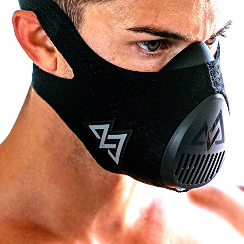 Training Mask 3.0 [All Black] for Performance Fitness, Workout Mask, Running Mask, Breathing Mask, Resistance Mask, Cardio Mask (Black, Medium)