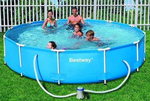 Bestway 12-Foot by 30-Inch Steel Pro Round Frame Pool Set