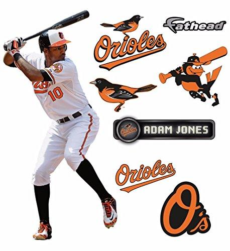 Baltimore Orioles Logo Wall Graphic (Adam Jones FATHEAD Baltimore Orioles Logo Set Official MLB Vinyl Wall Graphics 17
