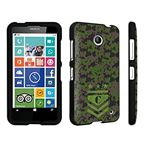 DuroCase ? Nokia Lumia 630 Hard Case Black - (Army Camo Monogram C)