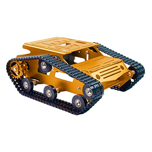 XiaoR Geek Smart Robot Car Tank Chassis Kit Aluminum Alloy Big Platform with 2WD Motors for Arduino/Raspberry Pi DIY Remote Control Robot Car Toys - Free Tools