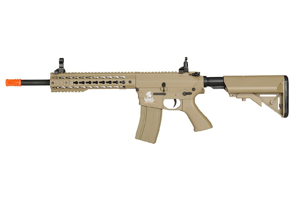 Lancer Tactical Airsoft LT-12TK 10'' Free Floating KeyMod Hguard - TAN