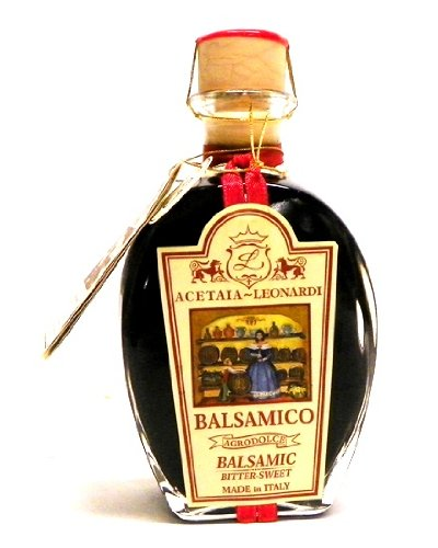 Balsamic vinegar leonardi 3 year 1 1 - 8. 45oz bottle of acetaia leonardi 3 year aged balsamic vinegar this acetaia leonardi balsamic vinegar is aromatic with hints of sweet wine, deep raisin and caramel flavors. Use in making salad dressings and marinades