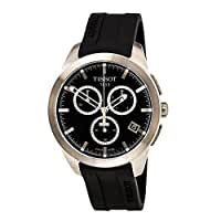 Tissot T-sport Titanium Black Dial Rubber Mens Watch T0694174705100