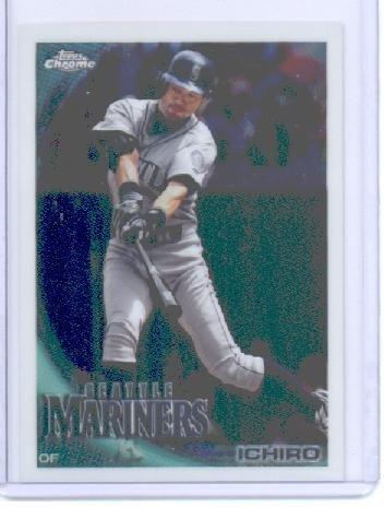 2010 Ichiro Suzuki Rookie Card - 2010 Topps Chrome Baseball Card # 38 Ichiro Suzuki - Seattle Mariners - MLB Trading Card