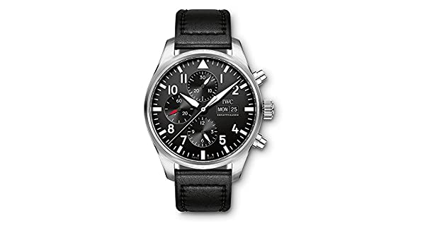 ac9ea36fb6 Amazon.com: IWC Pilot Mechanical (Automatic) Black Dial Mens Watch  IW3777-09 (Certified Pre-Owned): Watches