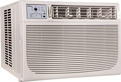 GARRISON 2477803 R-410A Through-The-Window Heat/Cool Air Conditioner with Remote Control, 18000 BTU, White