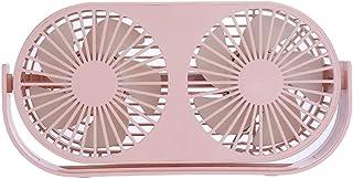 TechCode Handheld Misting Fan, Mini Desktop USB Fan Personal Small Fan 3 Speeds Quiet Table Personal Fan Lower Noise USB Powered 360 ° Horizontal Rotation Electric Fan for Office or Home Use(Green)