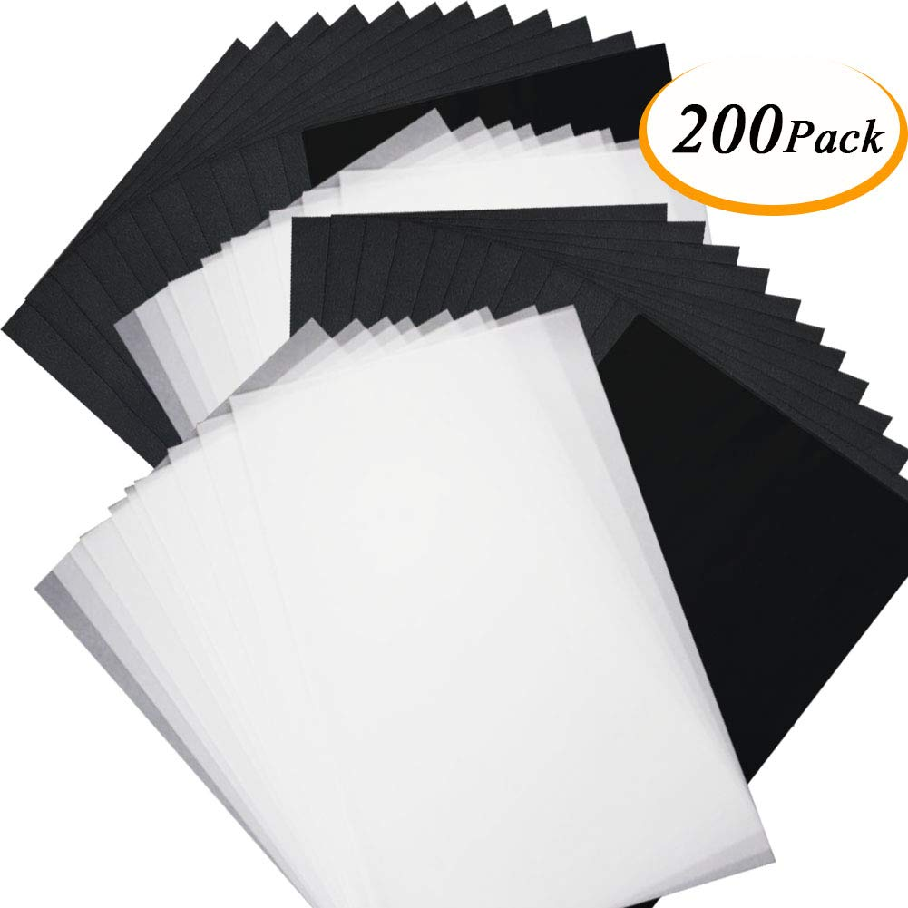Glass Metal 50 Sheets Graphite Transfer Paper a4 Carbon Transfer Tracing Paper for Paper Carving DIY Wood Burning Transfer Craft