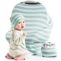 Nursing Cover CarSeat Canopy | Nurse Anywhere with Privacy | Soft and stretch...