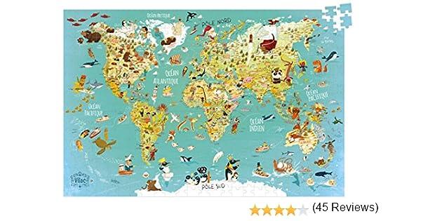 Vilac - Puzzle Mapa del Mudo Fantástico (2722): Amazon.es ...