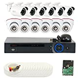 GW Security 16 Channel 5MP NVR 1920P IP Camera Network POE Video Security System - 12 x 5.0 Megapixel (2592 x 1920) Weatherproof Dome Cameras, Quick QR Code Easy Setup, Pre-installed 4TB Hard Drive