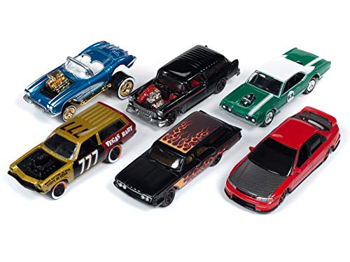 Johnny Lightning Street - Street Freaks 2019 Release 2, Set B of 6 Cars Limited Edition to 3,000 Pieces Worldwide 1/64 Diecast Models by Johnny Lightning JLSF013 B