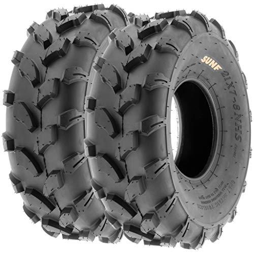 SunF A003 ATV/UTV/Lawn-Mowers Off-Road Tire 19x7-8, 6 PR, Directional Tread (Pair of 2) (Bike Off Road Tires)
