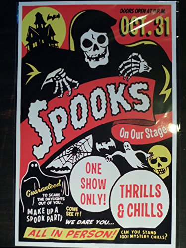 Halloween 50s Spook Show Event Poster