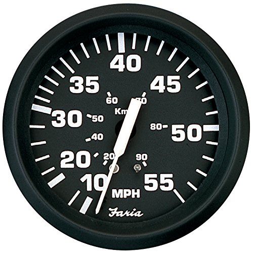 Faria Beede Instruments 32810 Faria Euro Black 4″ Speedometer 55MPH Mechanical