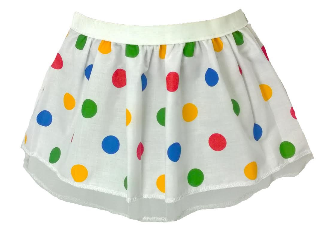 Children In Need Multi Colour Polka Dot pleated tutu skirt Child size 10 by The Dragons Den