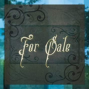 24x24 5-Pack for Sale Victorian Frame Window Cling CGSignLab