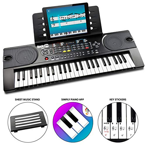 RockJam (RJ549) 49-Key Portable Electric Keyboard Piano...